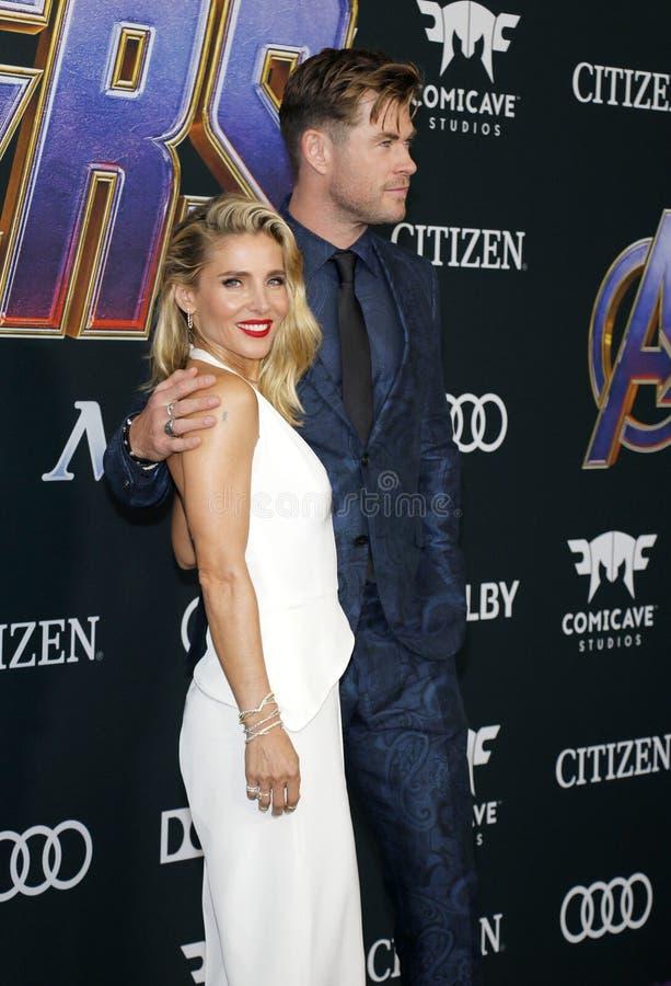 Chris Hemsworth en Elsa Pataky royalty-vrije stock afbeelding
