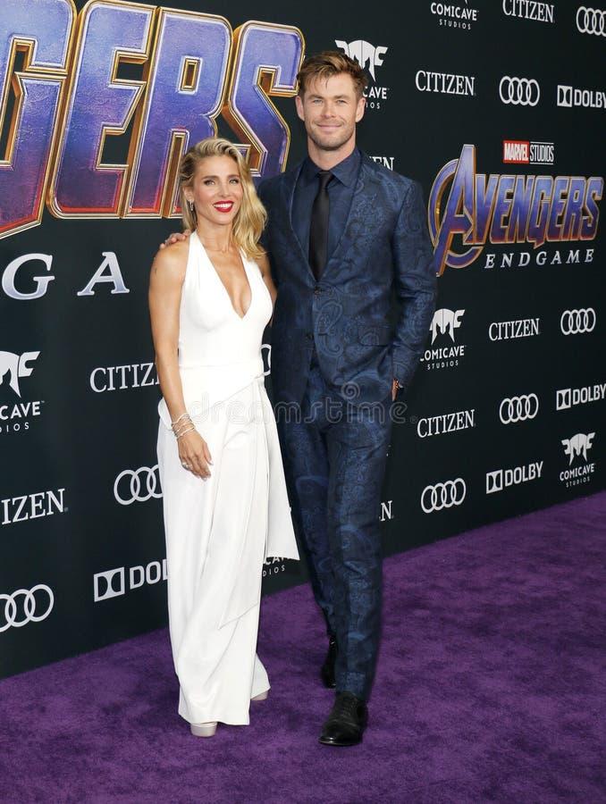 Chris Hemsworth en Elsa Pataky royalty-vrije stock fotografie
