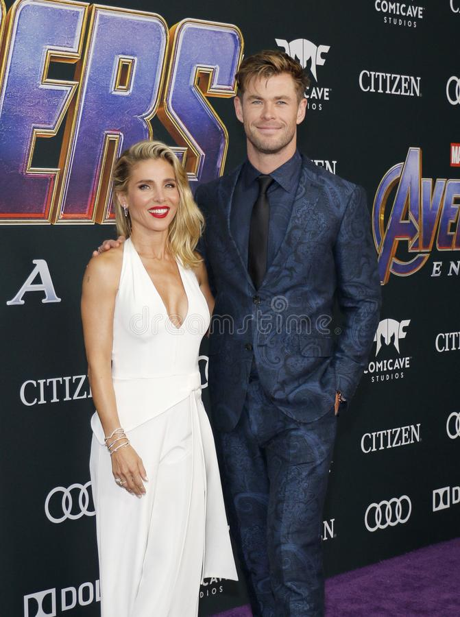 Chris Hemsworth en Elsa Pataky stock foto