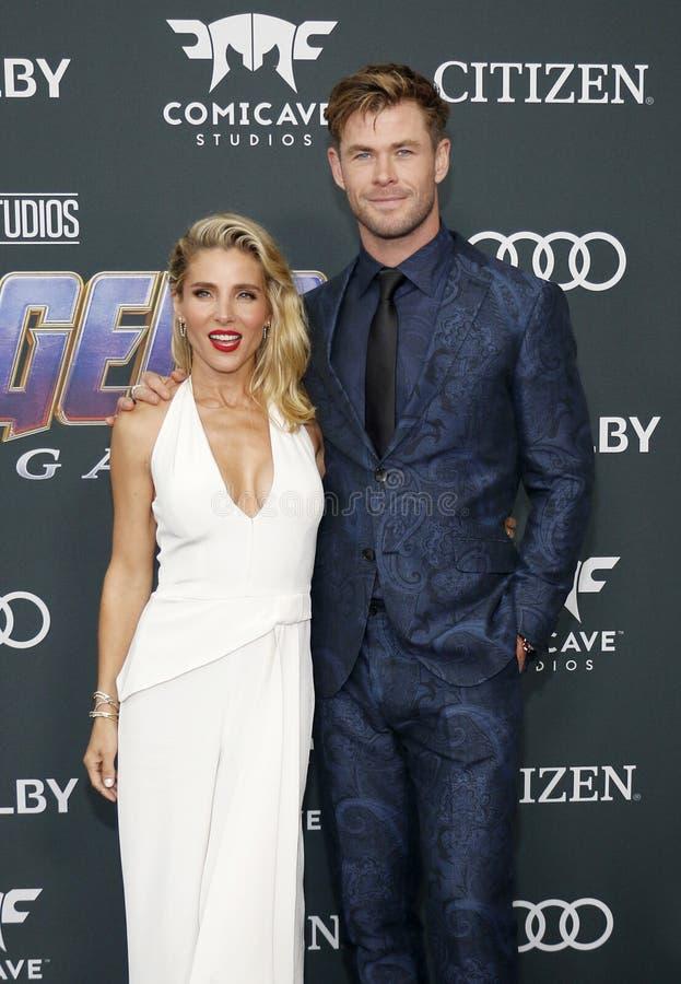 Chris Hemsworth en Elsa Pataky stock afbeeldingen