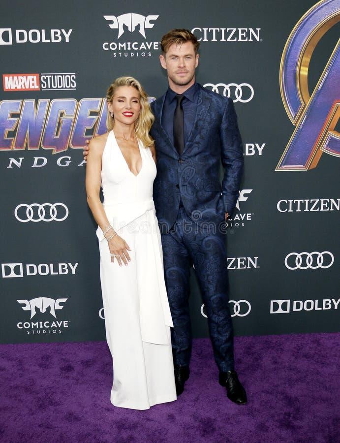 Chris Hemsworth en Elsa Pataky royalty-vrije stock foto