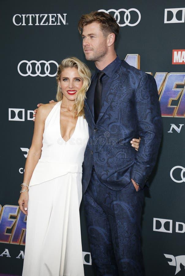 Chris Hemsworth en Elsa Pataky stock afbeelding