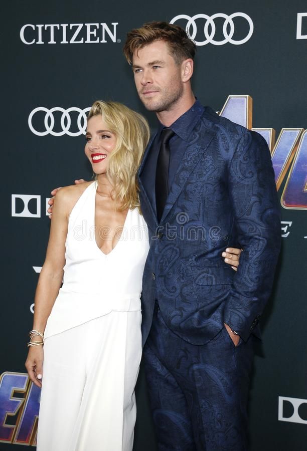 Chris Hemsworth en Elsa Pataky stock fotografie