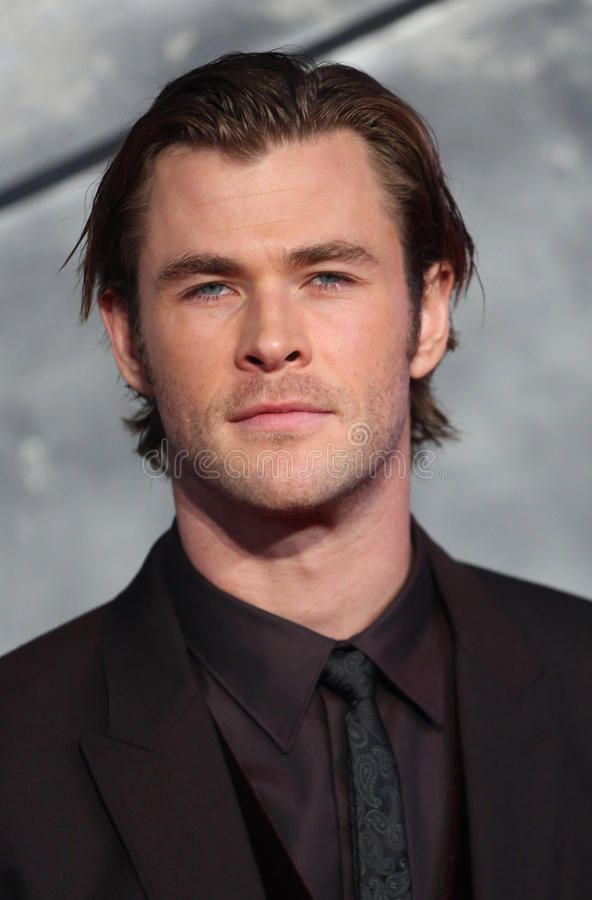 Chris Hemsworth mörkret arkivfoto