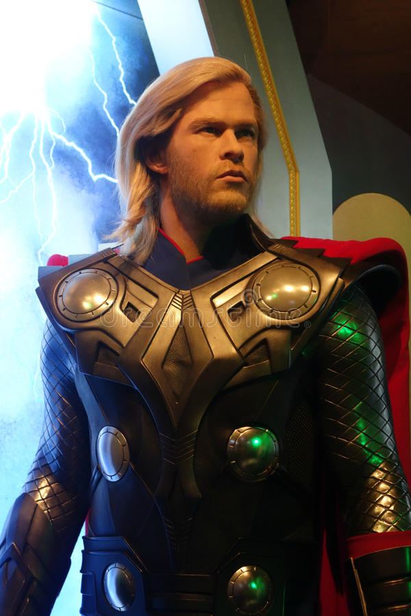Chris Hemsworth Wax Figure stock afbeelding