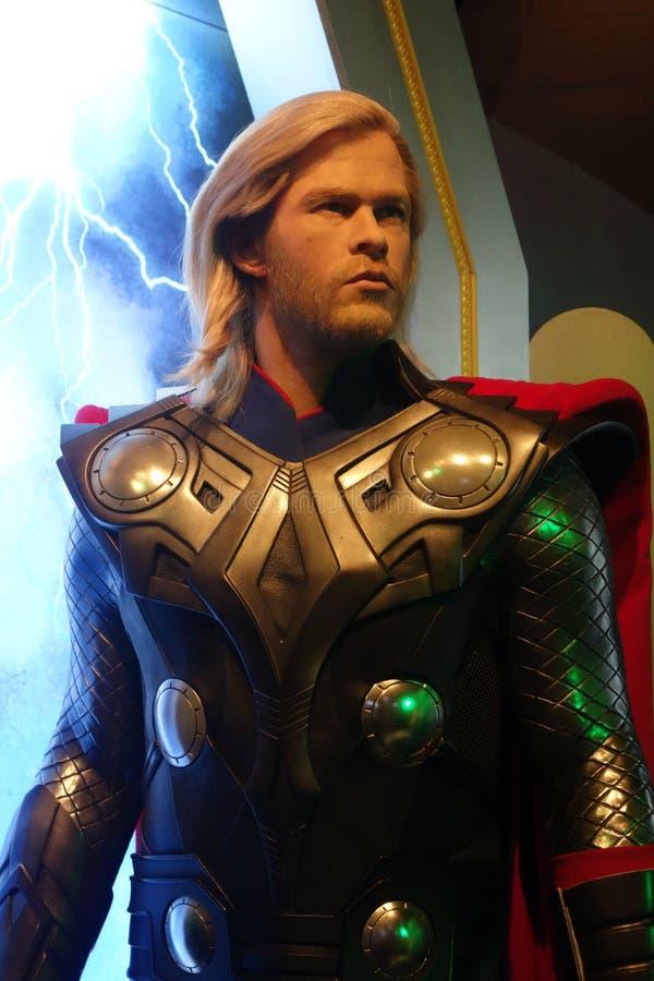 Chris Hemsworth Wax Figure imagem de stock