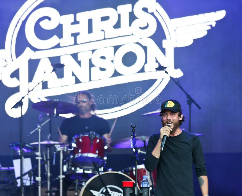 Chris Janson fotografia stock libera da diritti