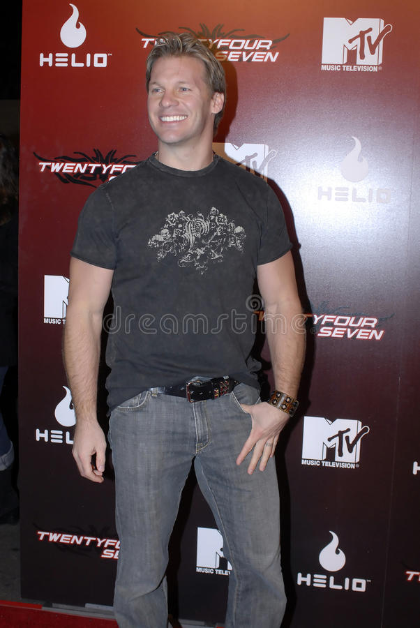 Chris Jericho on the red carpet. Chris Jericho on the red carpet in Holllywood in November 2006 stock images