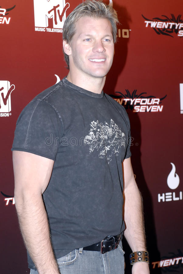 Chris Jericho on the red carpet. Chris Jericho on the red carpet in Holllywood in November 2006 stock photography