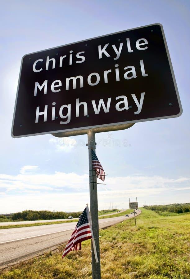 Chris Kyle pomnika autostrada zdjęcie royalty free