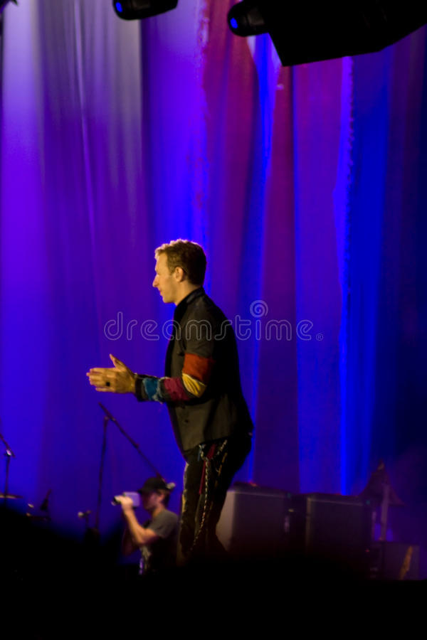 Chris Martin from Coldplay stock photography