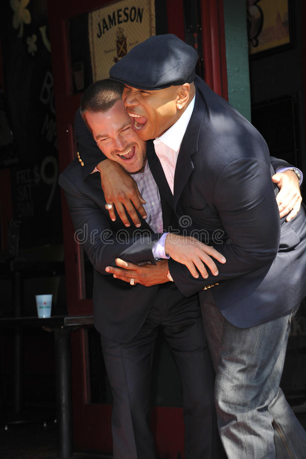 Chris O'Donnell & LL Cool J fotografia royalty free