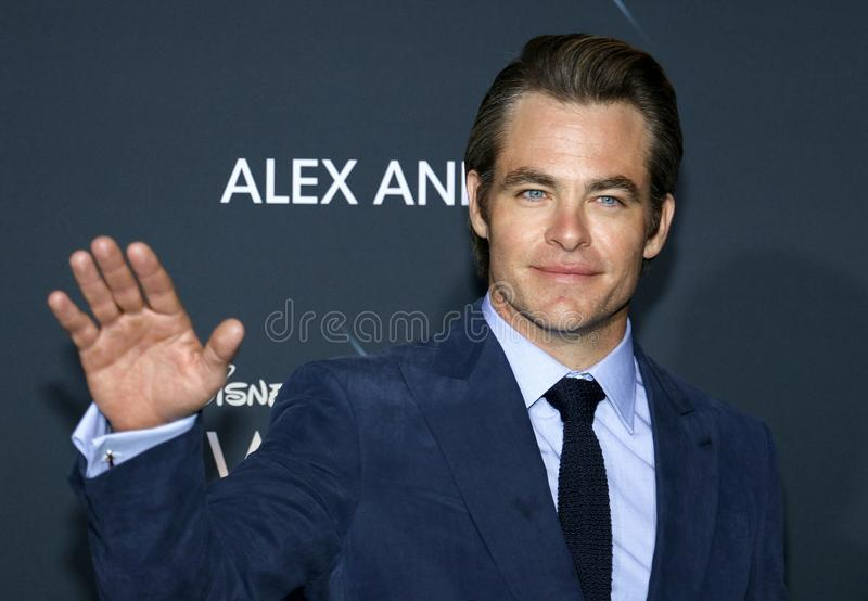 Chris Pine images libres de droits