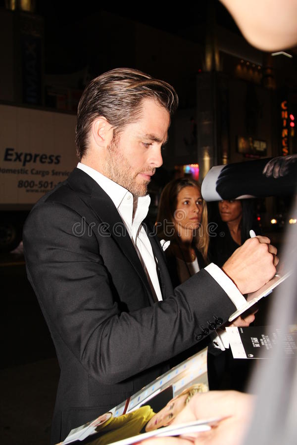 Chris Pine fotografia de stock royalty free