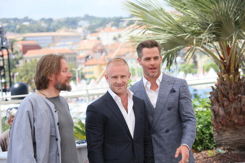 Chris Pine, Ben Foster, David Mackenzie fotografia de stock