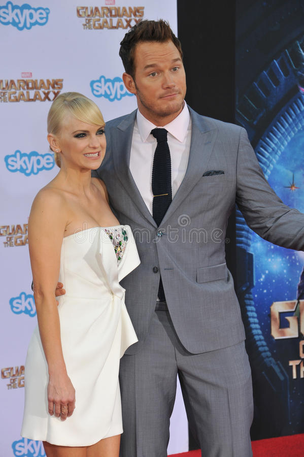 Chris Pratt & Anna Faris royalty-vrije stock fotografie