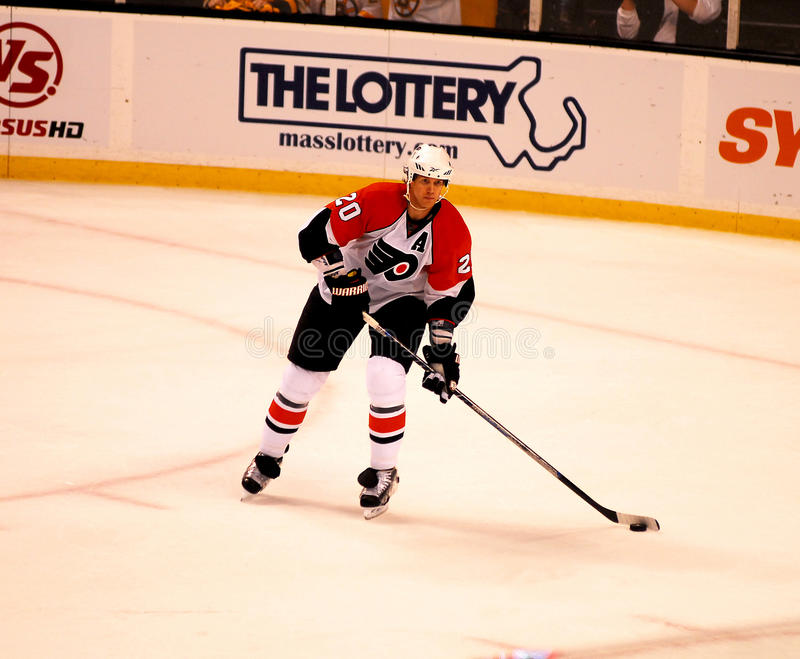 Chris Pronger -- Philadelphia Flyers. Philadelphia Flyers defenseman Chris Pronger, #20 stock photos