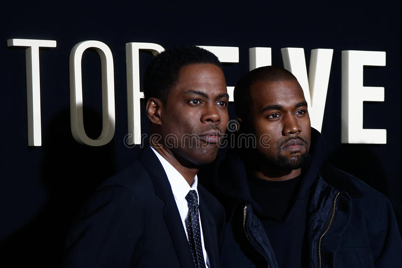 Chris Rock, Kanye West fotografia de stock