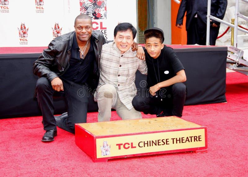 Chris Tucker, Jackie Chan Smith i Jaden, zdjęcia stock