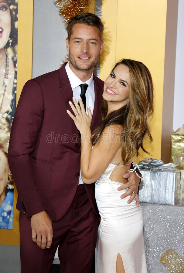 Chrishell Stause en Justin Hartley royalty-vrije stock fotografie