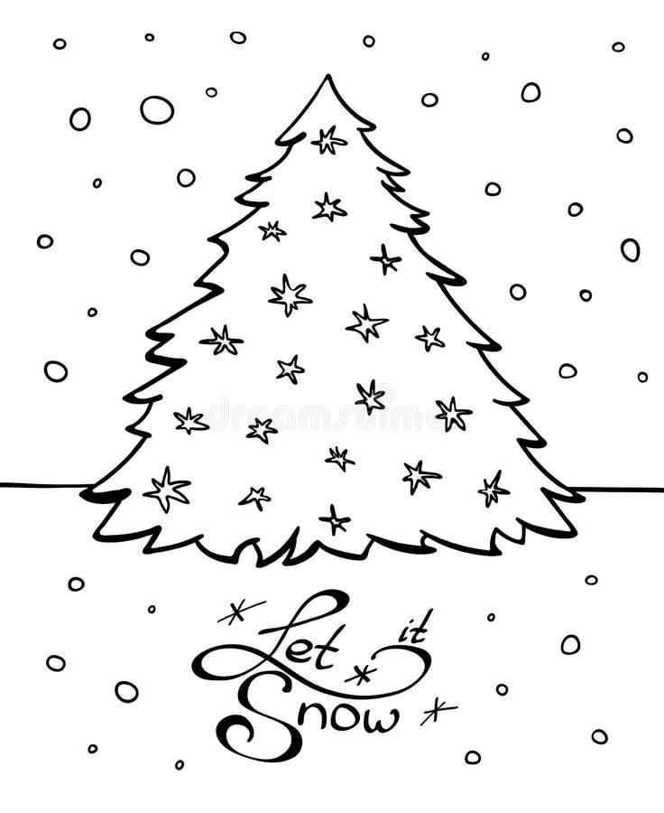 Chrismas树和字法与愿望 皇族释放例证
