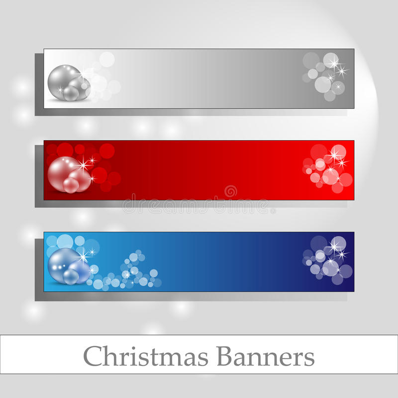 Chrismas banners with message frame royalty free stock photography