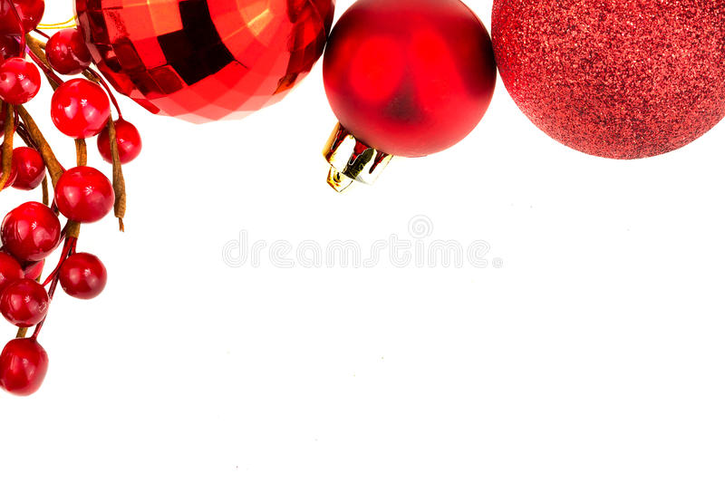 Download Chrismas Baubles And Red Berries Stock Photo - Image: 22069100