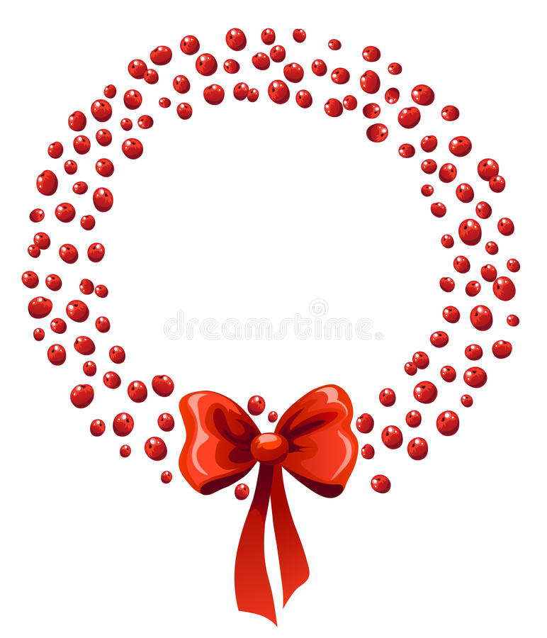 Chrismas berry wreath royalty free illustration