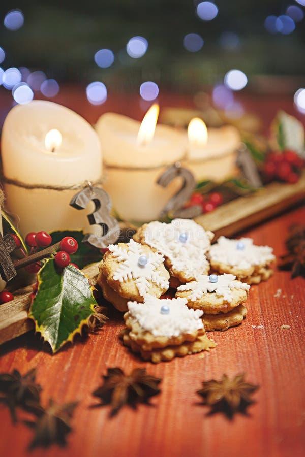 Chrismas cukierki z chrismas dekoracją zdjęcie stock
