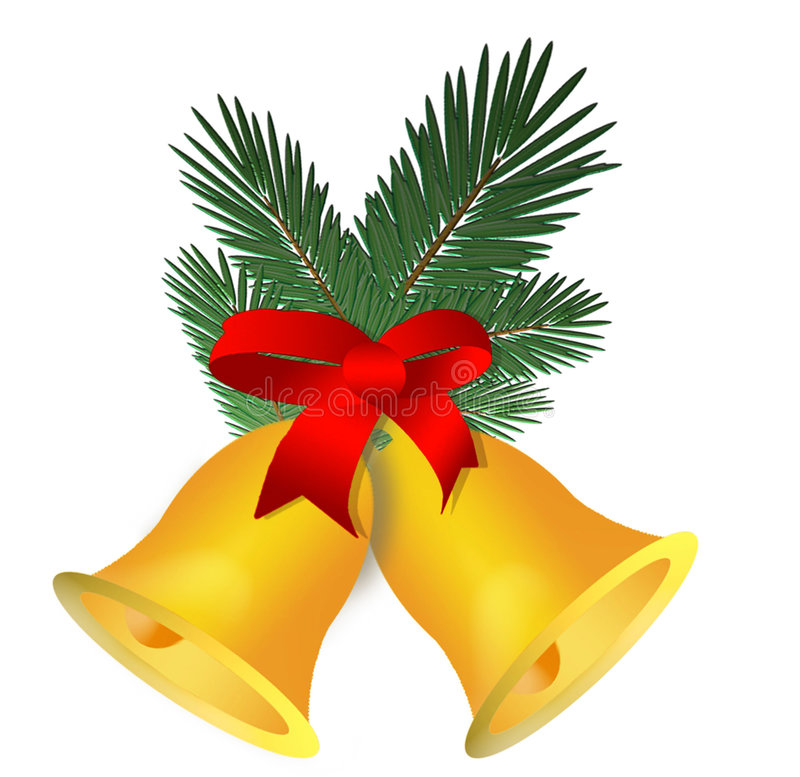 Chrismas decorations bells royalty free stock images