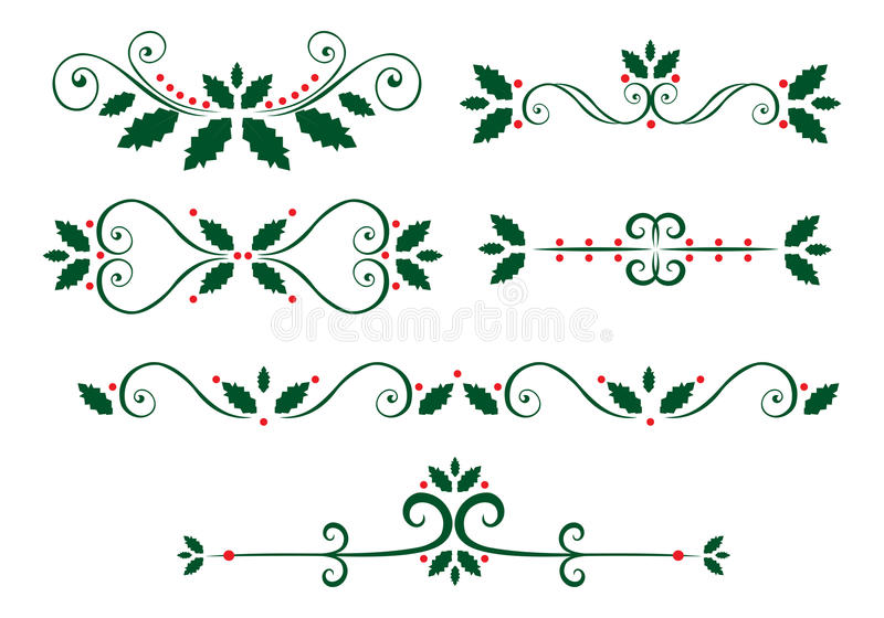 Chrismas page decorations royalty free illustration