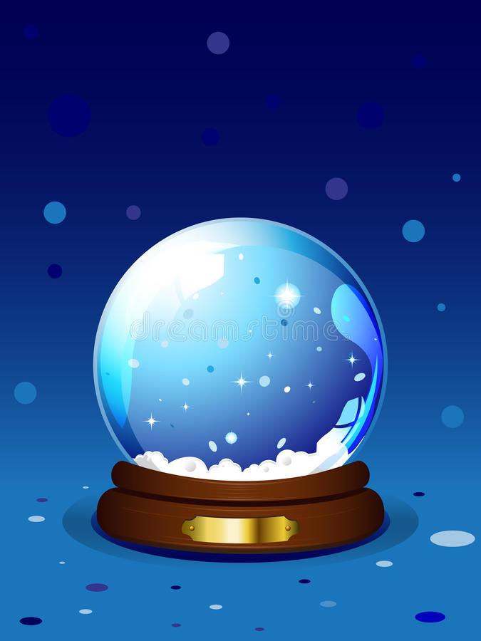 Download Chrismas snowglobe stock vector. Image of background - 17168608