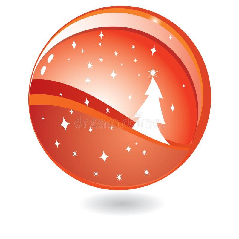 Chrismas tree in sphere stock illustration