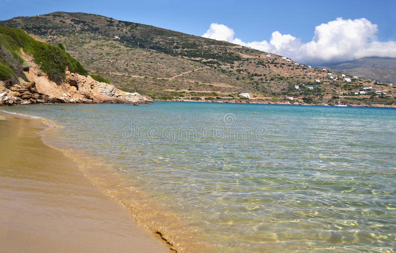 Chrissi Ammos beach Andros island Greece stock image