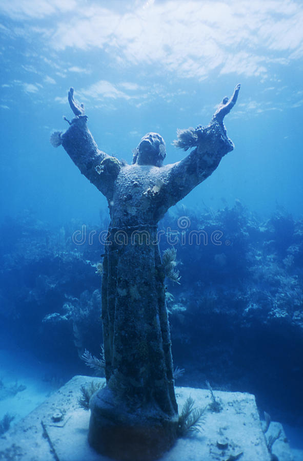 Christ of the Abyss. Statue of Christ photographed in Key Largo Florida
