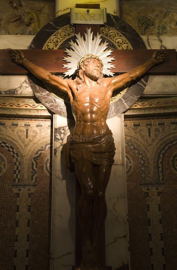 Christ auf dem Kreuz stockbilder