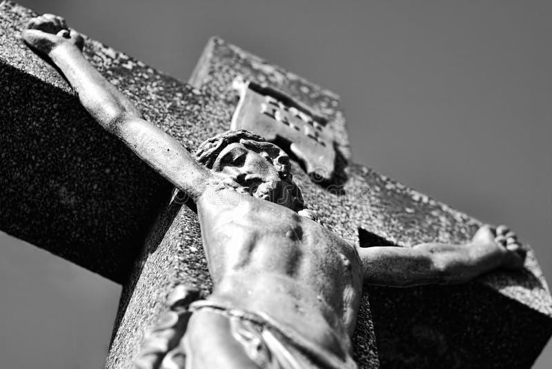 Christ auf dem Kreuz stockbild