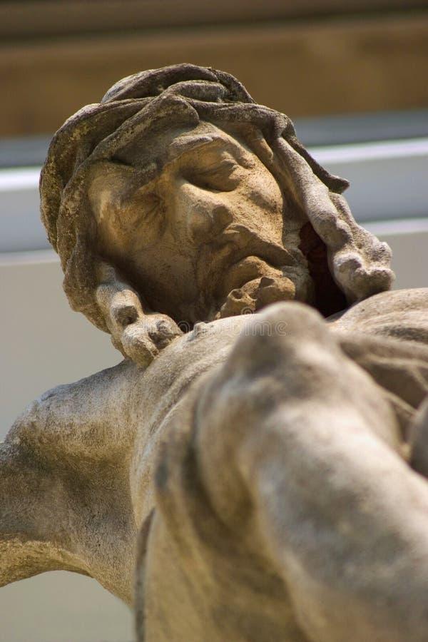 Christ auf dem Kreuz lizenzfreie stockfotos