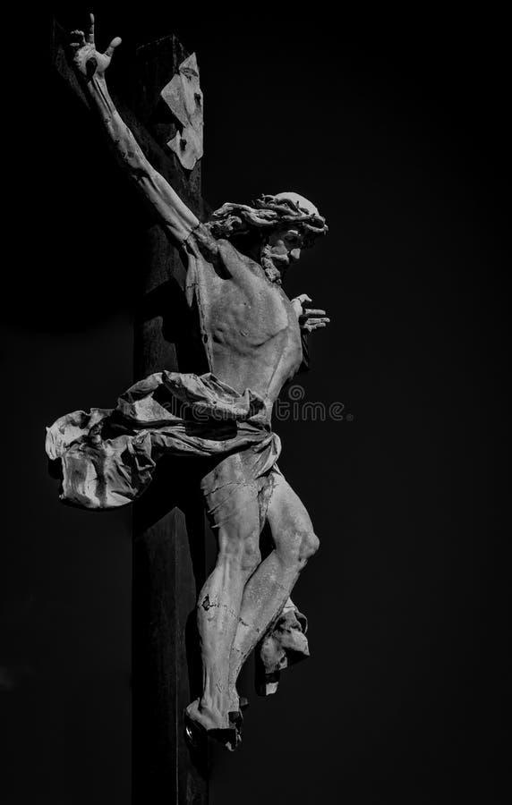 Christ auf dem Kreuz lizenzfreies stockbild