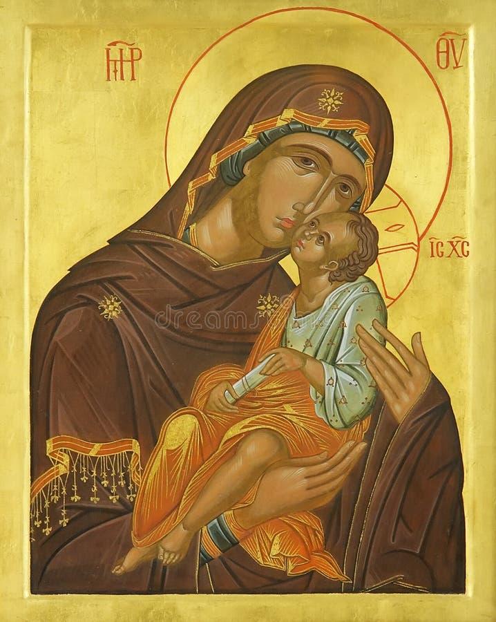 christ bóg ikony Jesus madonna matka zdjęcia royalty free