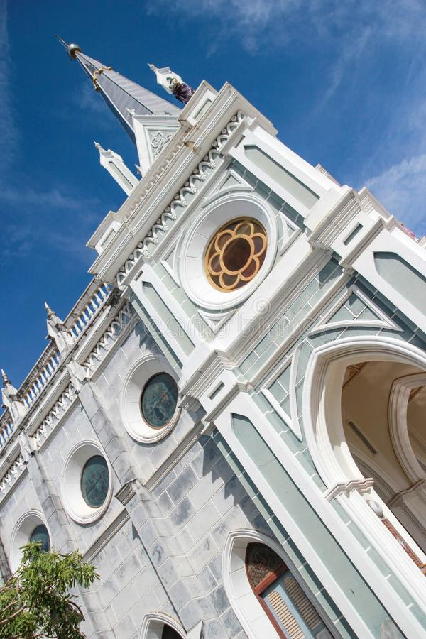 Christ Church Amphawa, Thailand Religion. Christ Church The Temple of the Holy Mother was born Amphawa Thailand royalty free stock photo