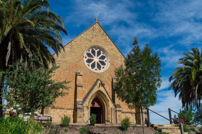 Christ Church anglican church in Castlemaine stock photography