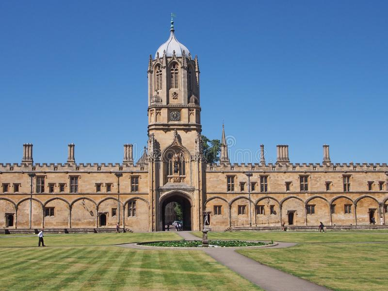 Christ Church College, Tom Quad, Oxford University stock photo