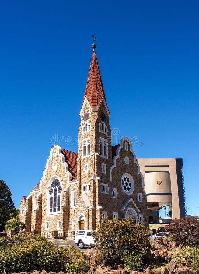 The Christ Church, Lutheran church in Windhoek, Namibia. Africa royalty free stock photo