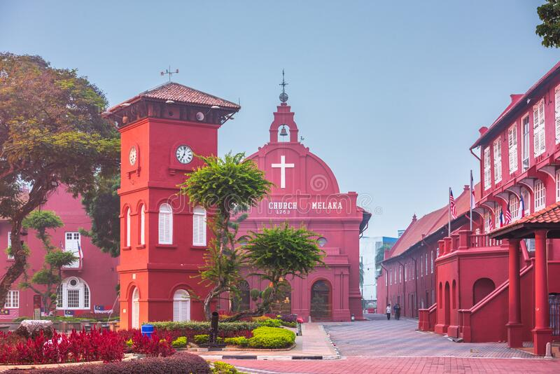 Christ Church Melaka in Malacca, Malaysia royalty free stock images
