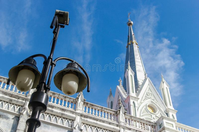 Christ Church Amphawa, Thailand Religion. Christ Church The Temple of the Holy Mother was born Amphawa Thailand royalty free stock photography