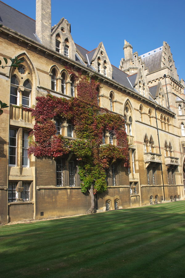 Download Christ Church Wall angled stock image. Image of autumn - 4136017