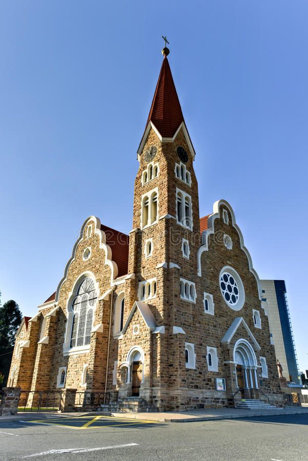 Christ Church - Windhoek, Namibia. Christuskirche (Christ Church), famous Lutheran church landmark in Windhoek, Namibia stock photos