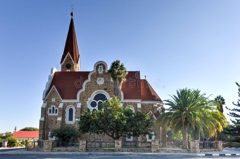 Christ Church - Windhoek, Namibia. Christuskirche (Christ Church), famous Lutheran church landmark in Windhoek, Namibia royalty free stock images