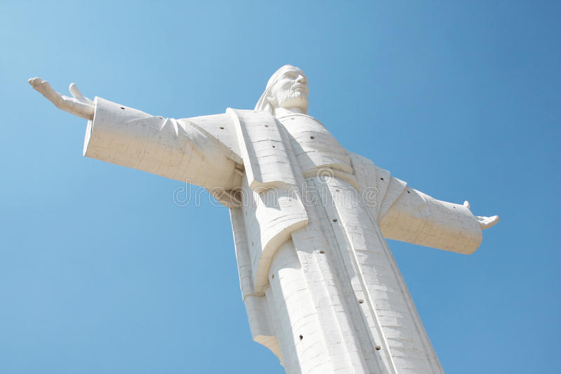 Christ of cochabamba in bolivia royalty free stock images
